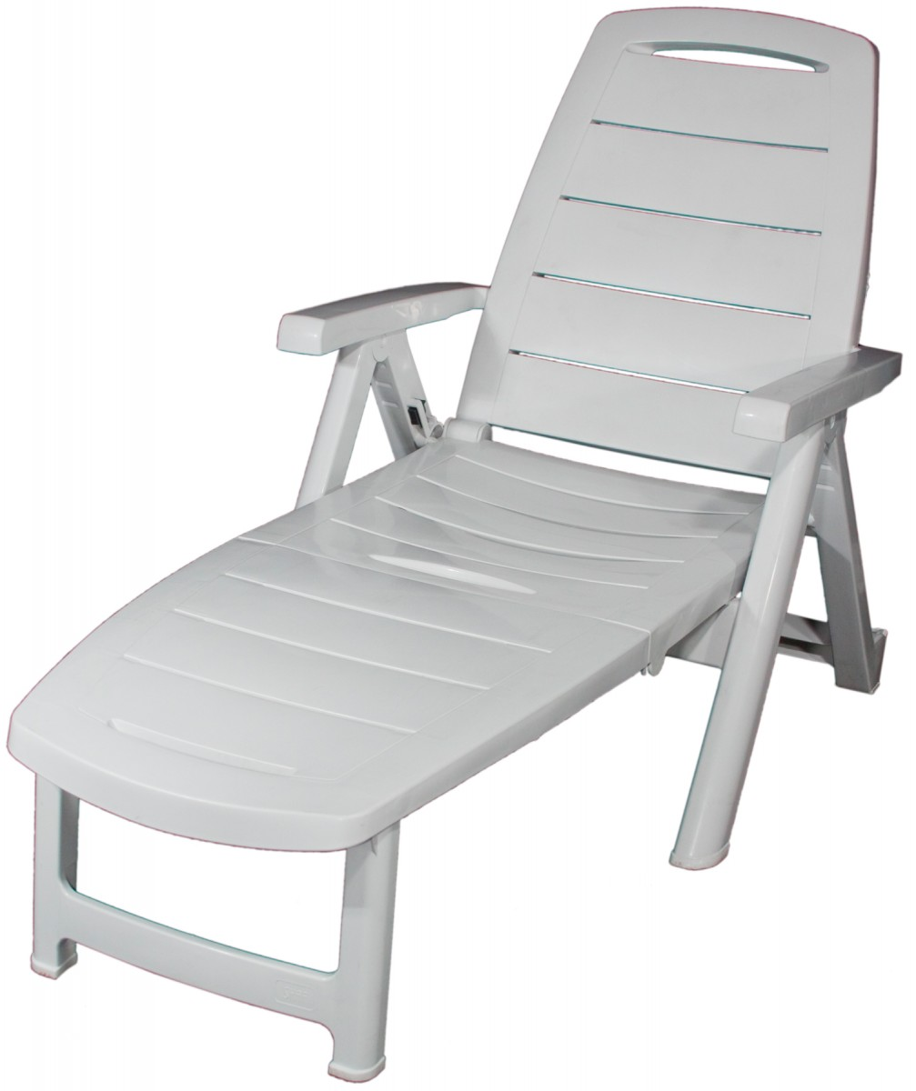 Chaise longue florida mobilier location for Chaise longue jardin pvc