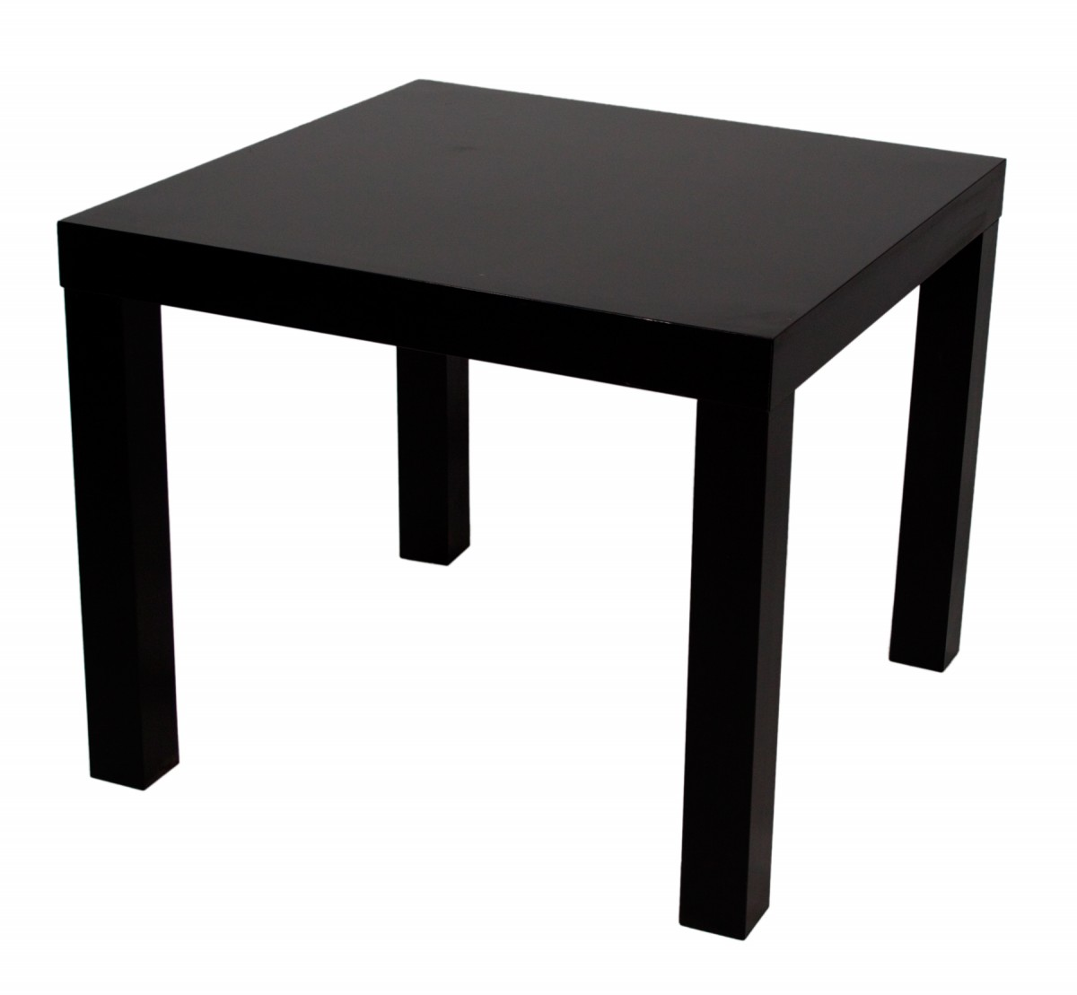 Table basse woody noire mobilier location for Table rallonge noire
