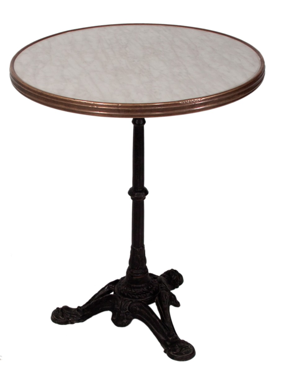 Table parisienne mobilier location - Table bistrot marbre ronde pied fonte ...