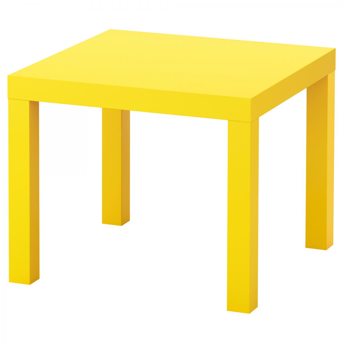 Table Basse Woody Jaune | Mobilier| location
