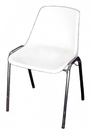 Chaise Coque Blanche
