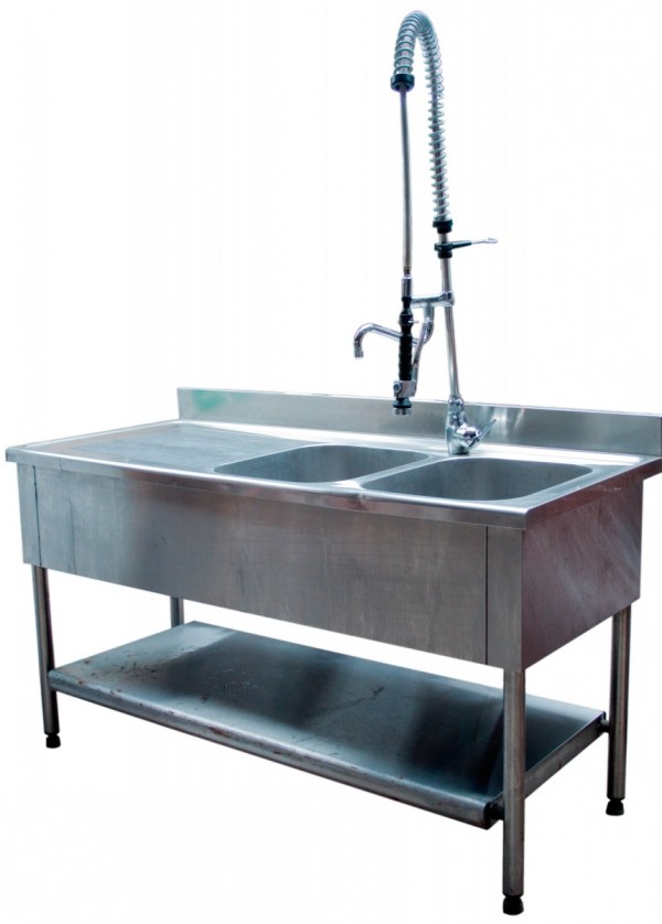 Evier plonge mobilier location for Plonge inox cuisine